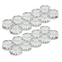 20pcs Guitar Speed Knobs for Electric Guitar 0-11 Speed Volume Tone Transparent