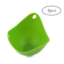 Silicone Egg Poacher Egg Poaching Cups with Hole Egg Cooking Tools 4 Pcs