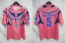 Maillot rugby Stade Français Paris n°5 rose vintage ADIDAS shirt 2006 L