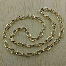 """14ct Mulit-tone Gold Fancy Link Necklace 20"""" RRP £599 (GW8)"""