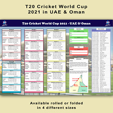 More details for icc t20 cricket world cup 2021 poster wall planner chart