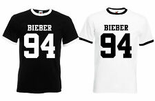 Justin Bieber Bieber 94 Quality Printed T-Shirt Unisex S-XL Black or White
