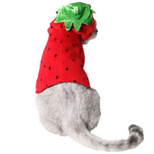 Pet Halloween Christmas Strawberry Dog Cat Pet Party Clothes Festive Dress