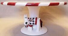 Cake Pie Plate Stand Westie Scottish Terrier Ceramic Holiday Studio Nova 9""
