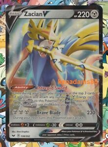 Pokemon SWSH1 Sword & Shield Zacian V Ultra Rare Card 138/202
