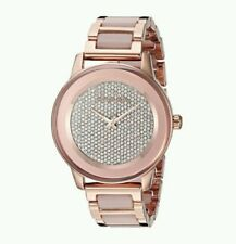 Michael Kors Ladies Kinley Rose Gold Glitz Dial Blush Resin Watch MK6432