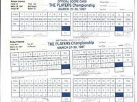 Lot 3 Rounds Tournament PGA Golf Scorecards Players Championship Robert Gamez