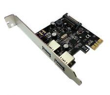 Skymaster 2 Port USB 3.0 PCI-E Card Low Profile for HP DL380e DL380p DL385p G8