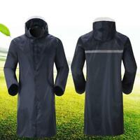 Men's Waterproof Raincoat Lightweight Casual Hooded Rain Coat Long Jacket