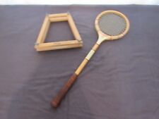 """Vintage Bancroft """"The Racquet Club"""" Squash Racquet Display Prop Staging"""