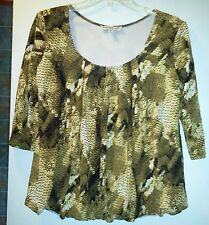 ANDRIA LIEU BUBBLE BLOUSE SHIRT MISSES LARGE NWOT