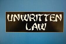Unwritten Law Sticker (S323)