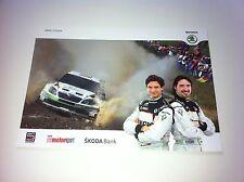 CP POSTCARD CARTOLINA SKODA FABIA S2000 SEPP WIEGAND RALLY WRC PORTUGAL 2013