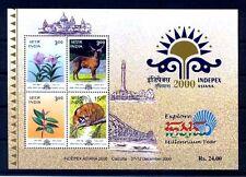 India 2000 Flora & Fauna Indepex Asiana 2000 M/Sheet