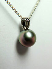 Natural White Gold Tahitian Pearl Fine Necklaces & Pendants