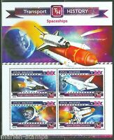 MALDIVES 2015 HISTORY OF TRANSPORT SPACESHIPS SHEET MINT NH