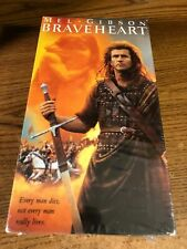 Braveheart Vhs Vcr Video Tape Movie New / Sealed Mel Gibson