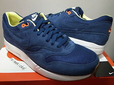 2013 A.P.C. x NIKE AIR MAXIM 1 APC SP Mid Navy Total Orange 607541-448 size 11