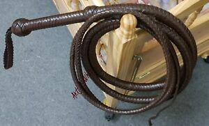 12 Feet Indiana Jones Bullwhip 12 Plait Top Grain Cowhide Leather Custom Whip
