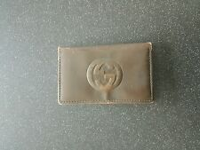 GUCCI DESIGNER VINTAGE KEY HOLDER BROWN