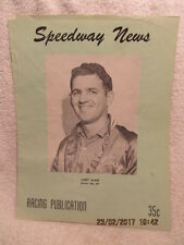 1960 Racing Publication Speedway News Driver Larry McKee on Cover Sacramento CA