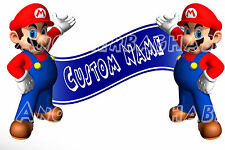 Super Mario Bros Room Decor -  Wall Decal Removable Sticker CUSTOM NAME