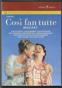 COSI FAN TUTTE (MOZART) R0 DVD GLYNDEBOURNE TOPI LEHTIPUU LUCA PISARONI 2-DISC