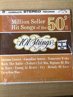 101 Strings Million Seller Hits of 50's & 60's Alshire International 2 LPs Nice