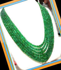 410.15 ct Natural Green Zambia Emerald Round Beads Necklace Untreated,estate