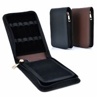 Roller Leather Case Holder Stationery For 12 Fountain Pen For Student US Stock