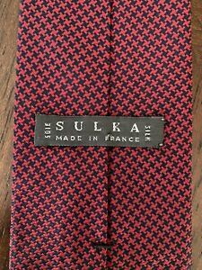 Sulka Navy/Red Tie