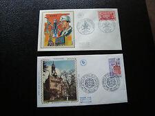 FRANCE - 2 enveloppes 1er jour 1971 1972 1974 (lens/toulouse) (cy56)