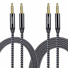 2 Pk CSHope Audio Cable Aux Cord Nylon Braided Aux Stereo Cable 10ft & 3.3ft lot