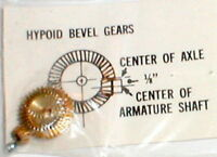 "3 to 1 Ratio Hypoid Brass Bevel Gears .093"" Tradeship # 314 Vintage Slot Car NOS"