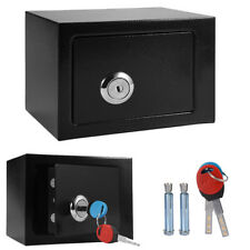 HIGH SECURITY STEEL KEY LOCK SAFETY BOX HOME OFFICE MONEY CASH SAFE WITH 2 KEYS