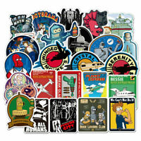 74Pcs Cartoon Futurama Stickers Bomb Laptop Skateboard Luggage Decals Pack Lot