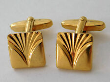 Vintage German cufflinks mens traditional jewellery square chunky g