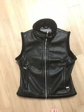 Spyder Faux Leather Plush Fleece Lined  Moto Style Winter Vest  Size 6  NEW $159