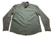 Untuckit Mens Gray Front Pocket Long Sleeve Button Front Dress Shirt Size XL