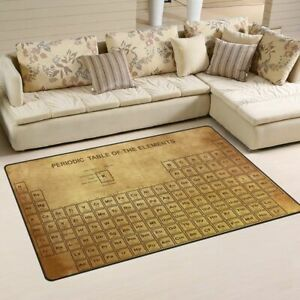 Periodic Table Of Elements Pattern Area Rugs Living Room Floor Mat