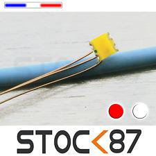 C197# 5 à 20 LED CMS pré-câblé bi-couleur 0605 rouge - blanc -  fil émaillé