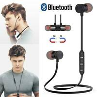 Magnetic Headphones In-Ear Bluetooth Stereo Earphones Headsets Wireless Earbuds