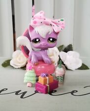 New ListingLittlest Pet Shop Sparkly Purple Glitter Longhair Angora Cat #2271 Vanity Gift