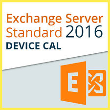 Microsoft Exchange Server 2016 Standard - 1x DEVICE CAL