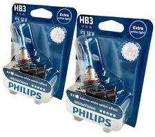 2x HB3 PHILIPS White Vision 3700K lampe automobile plus blanche 9005WHVB1