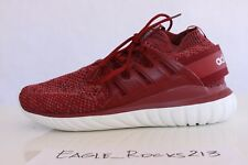 Adidas Tubular Nova Primeknit PK Red Burgundy Men's Sz 10 BB8406 New In Box