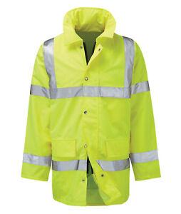 Hi Vis Hi Visibility 3/4 Length Jacket - Hi Viz Yellow - GERAINT