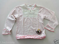"""T shirt  """" RUSTIC NATURE """" blanc manches longues Fille 8 10 ANS"""