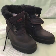 Sorel Size 9 Felt Lined Black Womens Winter Snow Boots KAUFMAN Made in Canada