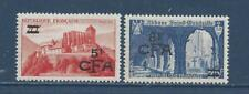 """REUNION - 286 - 287 - MH - 1950-1951 - """"CFA"""" + NEW VALUE ON FRANCE STAMPS"""